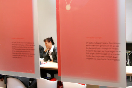 gdw Corporate Design Messestand detail