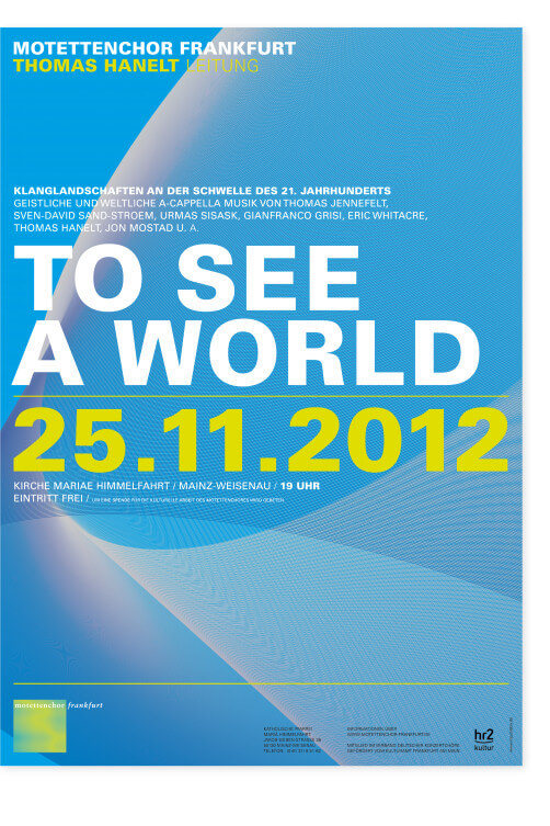 Plakat Motettenchor to see a world